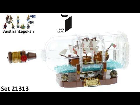 Vidéo LEGO Ideas 21313 : Bateau dans une bouteille