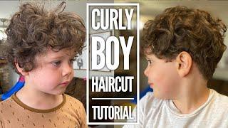 Curly Boy Haircut Tutorial