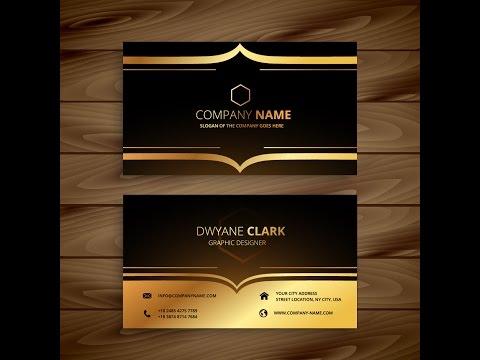 How to create luxury golden style business card in adobe illustrator cs6 colourmoves