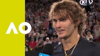 Alexander Zverev on-court interview (3R) | Australian Open 2019