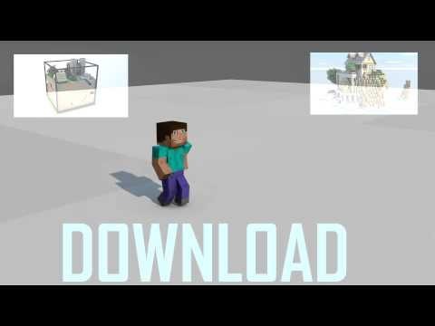 Cinema4D Walking Animation + Map Download Minecraft Project