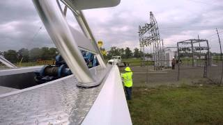 Midwest Truck using our 4024 at a LIVE Power Sub-Station