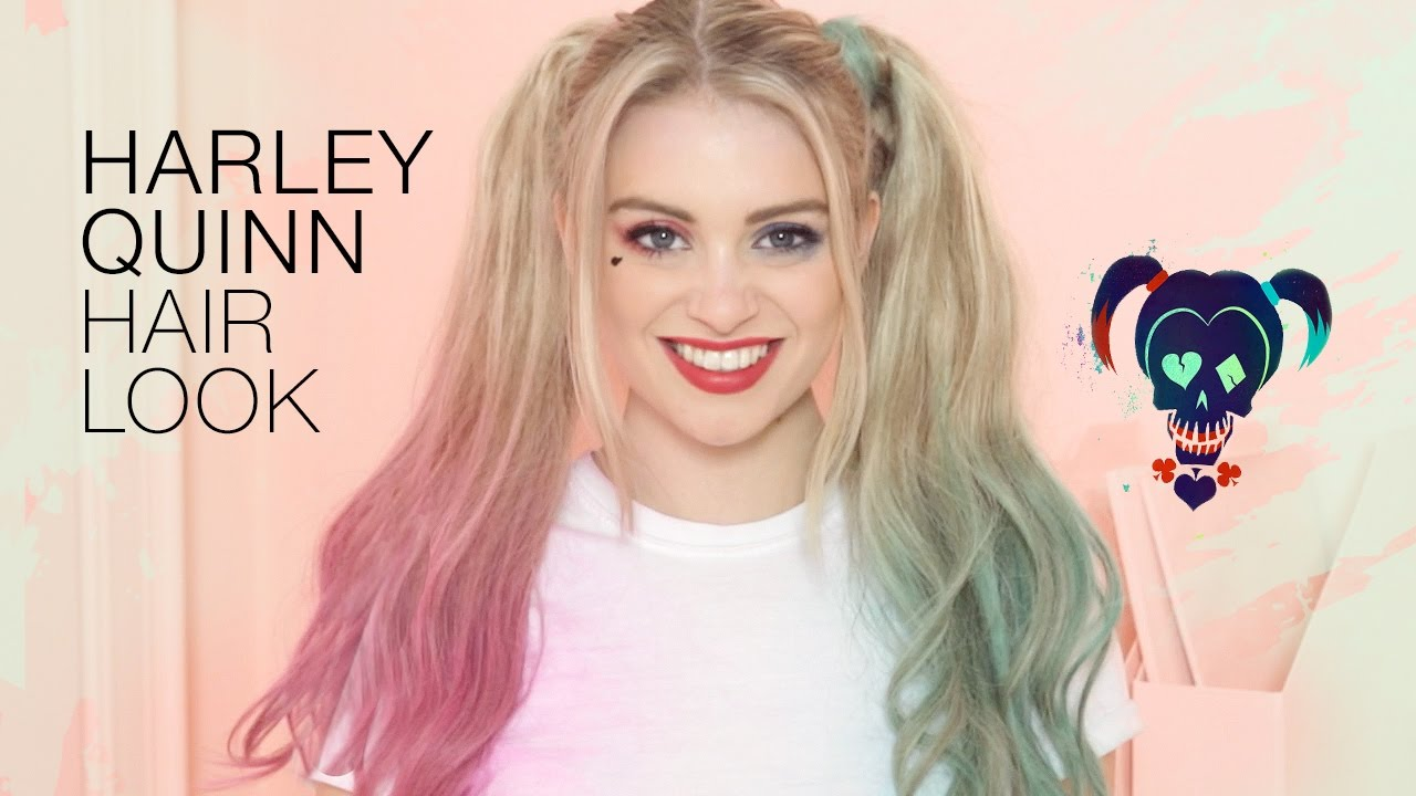Halloween How To Harley Quinn Inspired Hairstyle Hair