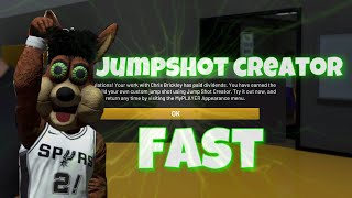 FASTEST WAY TO UNLOCK JUMPSHOT CREATOR IN NBA 2K20!GET IN TWO HOURS!