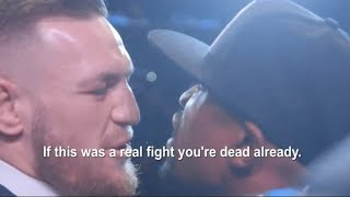 REVEALED WHAT CONOR MCGREGOR ACTUALLY SAID TO FLOYD MAYWEATHER *(UNSEEN FOOTAGE)* SUBTITLES
