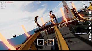 Velocidrone(FPV Simulator) Flying Freestyle around Coastal Track.