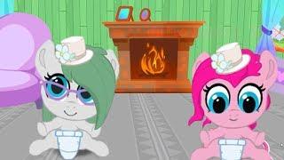 Семья Пинки Пай. Карманная пони. Мультик игра для детей. My little pony. дружба это чудо