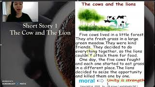 Short Story 1 : The Cows and the Lion (audio)