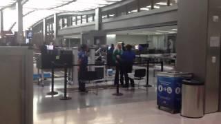 Crazy woman searched by TSA at Sacramento Airport