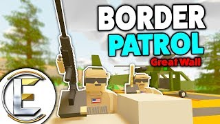 Border Patrol Great Wall - Unturned Roleplay (Checking Train Cargo As It's Maximum Security)
