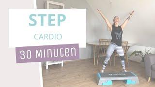 Cardio Step mit Step // EasyStep 3 // Basic+ // 30 Min. // 10.06.20 #homeworkout