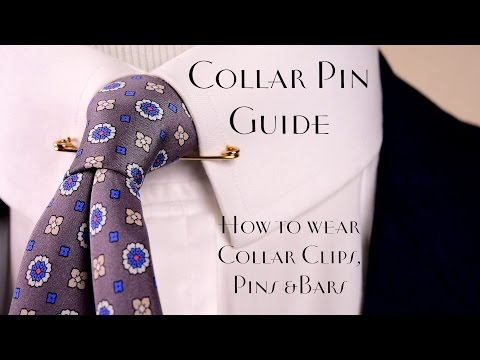 Collar Pin & Bar Guide - How to Wear & Buy Collar Bars & Clips