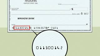 Locate a Check Routing Number