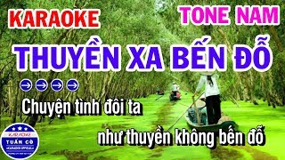 karaoke-thuyen-xa-ben-do-nhac-song-tone-nam-beat-nghia-karaoke-tuan-co