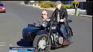 Оренбуржец подарил мотоцикл солисту