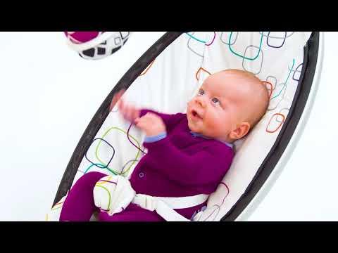 4moms кресло-качалка MamaRoo 4.0 серебристая