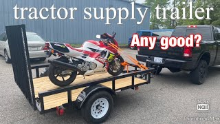 2020 tractor supply 6x8 trailer review
