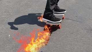 THE FLAMETHROWER SKATEBOARD! | YOU MAKE IT WE SKATE IT EP 149