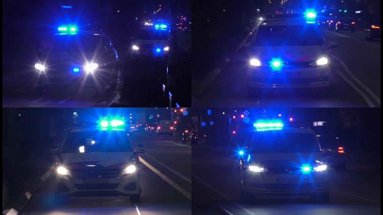 Vele Politievoertuigen & OvD-G 22-805 naar een grote brand bij Kortonjo Herman Gorterlaan Eindhoven