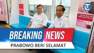 BREAKING NEWS: Akhirnya Prabowo Beri Selamat Jokowi secara Langsung di MRT