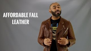 Top 8 Best Affordable Mens Leather Jackets/Best Cheap Fall Mens Leather Jackets