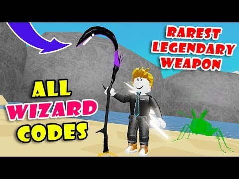 3 SECRET CODES & GOT RAREST LEGENDARY WEAPON (Demon Scythe) In WIZARD SIMULATOR! [Roblox]