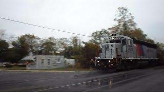 New Jersey Transit Train Speeds Through Spring Lake NJ