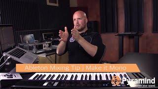 Ableton Mixing Tip | Make it Mono | Will Marshall