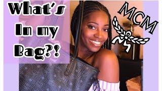 What's In My Bag?! | MCM Liz Reversible Tote | Review | Taronda Yvonne