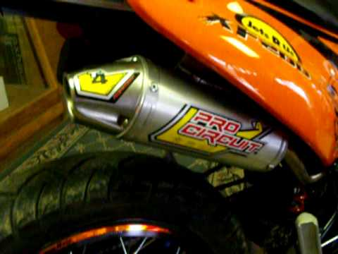 QLINK XF200 Supermoto W / Pro Circuit T4 Exhaust System