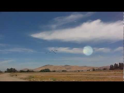 UFO Caught On Tape Over Santiago Air Base