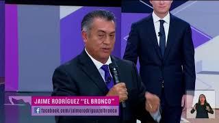"""El mensaje final de """"El Bronco"""" en el 2do debate presidencial"""
