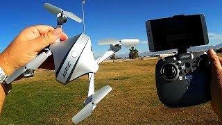 JJRC H44WH Damian FPV Folding Camera Drone Flight Test Review