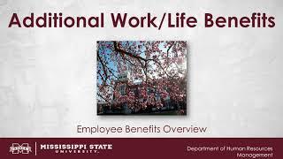 Additional Work/Life Benefits Video