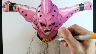 Cómo dibujar a Kid Buu explicado paso a paso | How to draw Kid buu (English subt. CC)