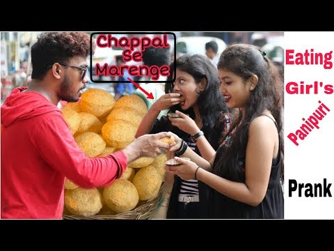 EATING GIRL'S PANI PURI PRANK -Epic Reactions | Pranks In India| By TCI