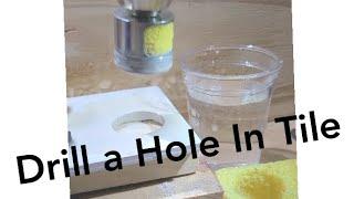 Hvordan du borer i fliser med diamantbor