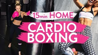 15min CARDIO BOXING WORKOUT | At Home Fat Burning Blaster!! by Sarahs Day