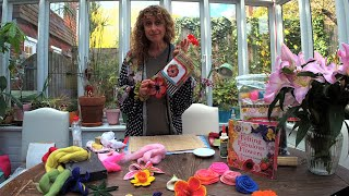 Live Felting Flowers Tutorial - Gilliangladrag Lockdown TV #WithMe