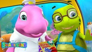 Old McDugong Had a Bus| Nursery Rhymes & Kids Songs! | Cartoons For Kids | Shark Songs