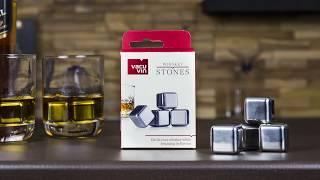 VacuVin Whisky Stenen - 4 stuks