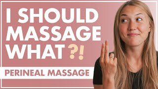 Avoid VAGINAL TEARING | PERINEAL MASSAGE for an Easier LABOR