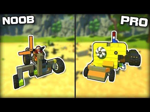 NOOB vs PRO Junkyard Vehicle Challenge! (Scrap Mechanic Gameplay)
