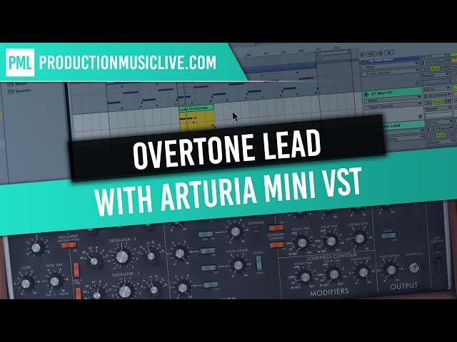 Analog Lead Sound Overtones with Arturia Mini V3 and Ableton Live (Melodic Techno Start To Finish)