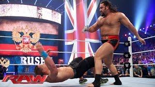 Rusev lays out John Cena: Raw, April 13, 2015