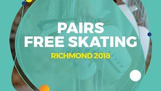 Mishina Anastasia / Galliamov Aleksandr (RUS)   Pairs Free Skating   Richmond 2018