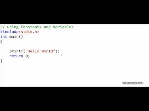 Data types, Constants and Variables – C Programming Tutorial 05