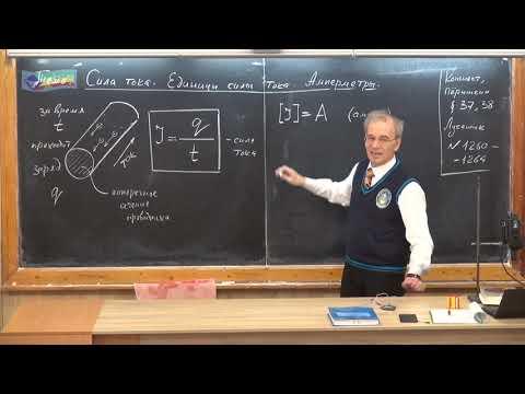 Урок 147 (осн). Сила тока. Единицы силы тока. Амперметры