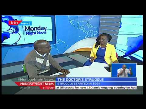 Monday Night News: Alfred Obengo Chair Nurses Union talking of issues medics strike, 5/12/16 part 1