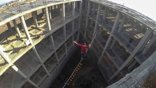 preview picture of video '1st Highline in Yerevan Armenia by Step Slackliners'